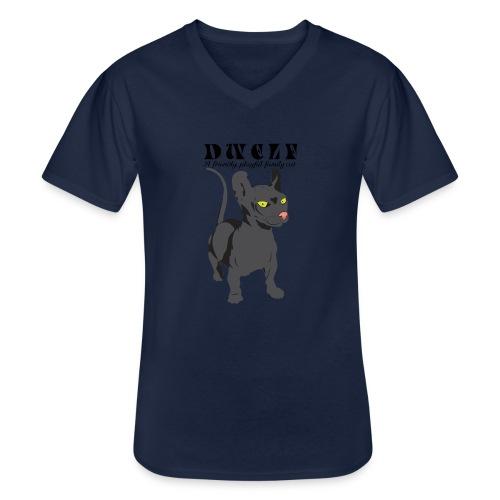 DWELF - Klassinen miesten t-paita v-pääntiellä