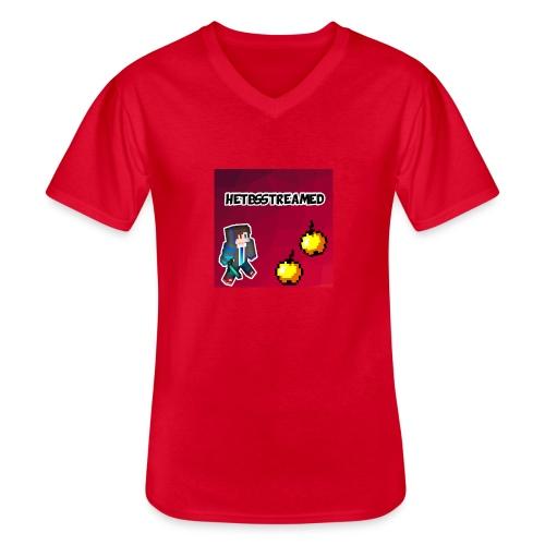 Logo kleding - Klassiek mannen T-shirt met V-hals