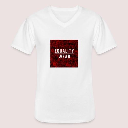 Equality Wear Rose Print Edition - Men's V-Neck T-Shirt
