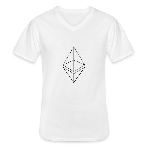 Ethereum - Klassinen miesten t-paita v-pääntiellä