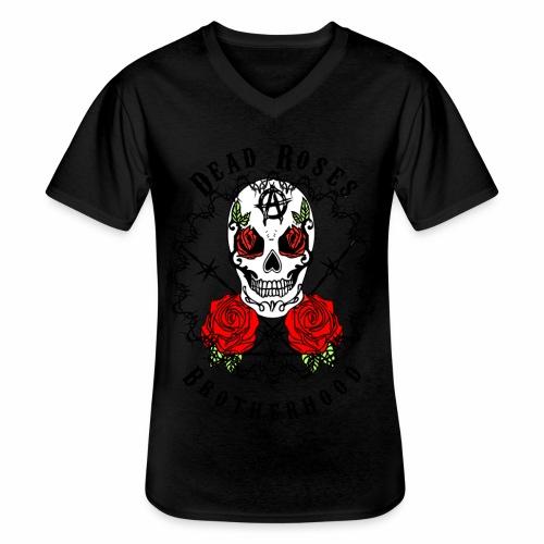 Dead Roses 2nd Logo - Men's V-Neck T-Shirt
