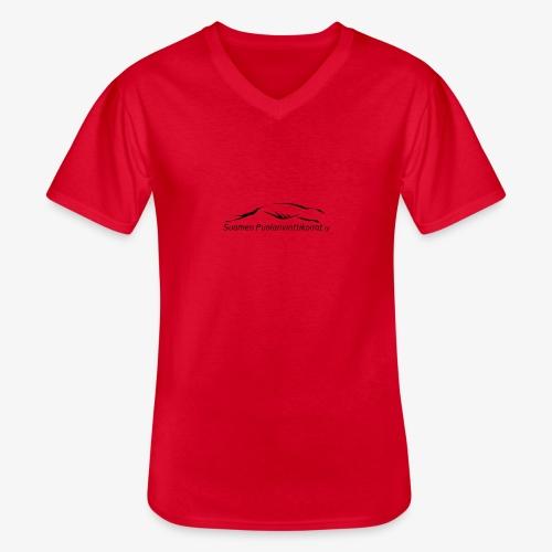 SUP logo musta - Klassinen miesten t-paita v-pääntiellä