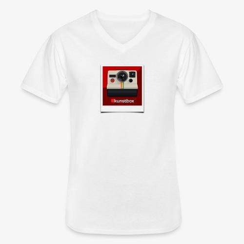 kunstbox pol - Klassisches Männer-T-Shirt mit V-Ausschnitt