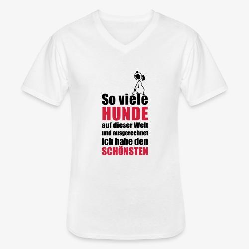 Der schönste HUND - Klassisches Männer-T-Shirt mit V-Ausschnitt