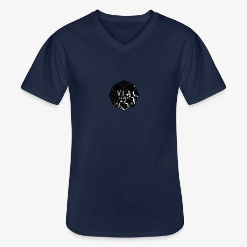 VLA GARAGE - Klassinen miesten t-paita v-pääntiellä