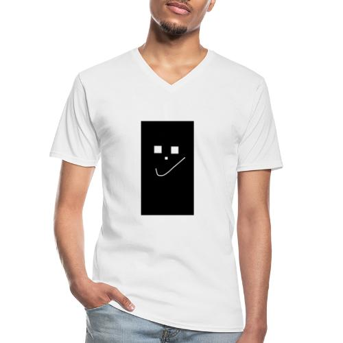 Smile :) - Klassisches Männer-T-Shirt mit V-Ausschnitt