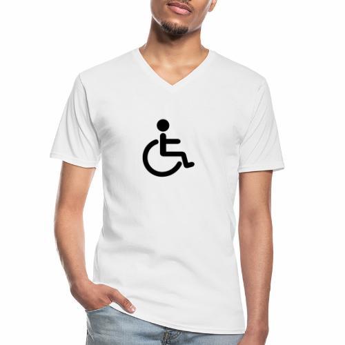 Pyörätuolipotilas - tuoteperhe - Klassinen miesten t-paita v-pääntiellä