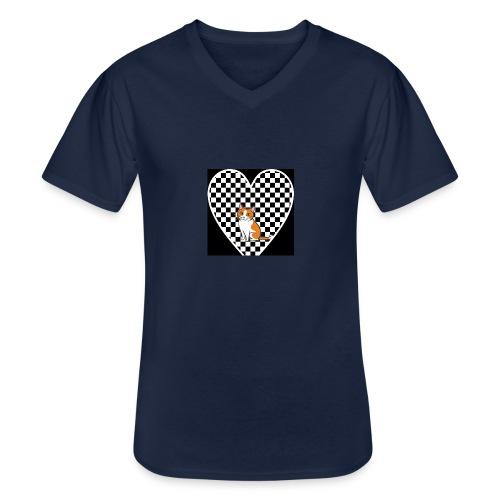 Charlie the Chess Cat - Men's V-Neck T-Shirt