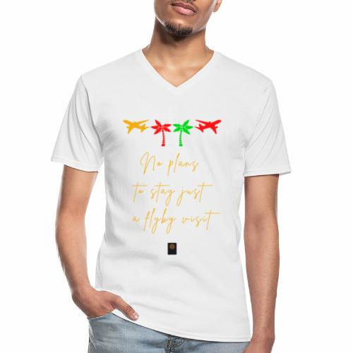 Colourful Holiday travel t shirts flight clothes - Men's V-Neck T-Shirt