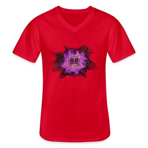 Fire Crown - T-shirt classique col V Homme