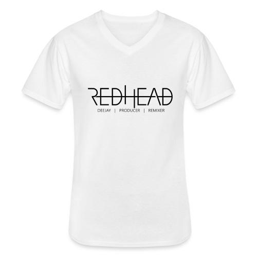 Redhead-Standard [BLACK] - Klassisches Männer-T-Shirt mit V-Ausschnitt