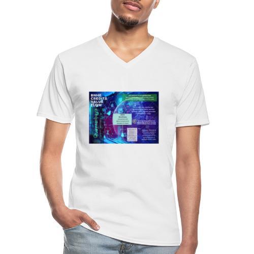 BNHE Credits generating digital value flow - Klassisches Männer-T-Shirt mit V-Ausschnitt