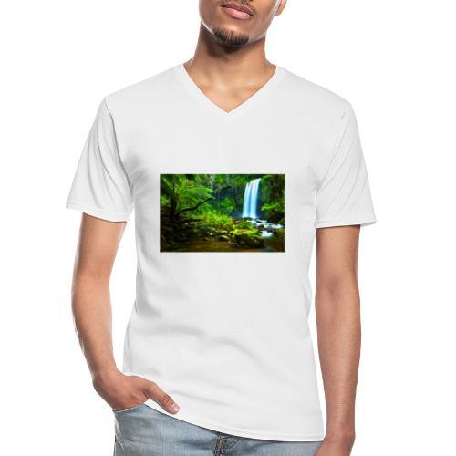 Quayambaya Sportswear - Klassisches Männer-T-Shirt mit V-Ausschnitt