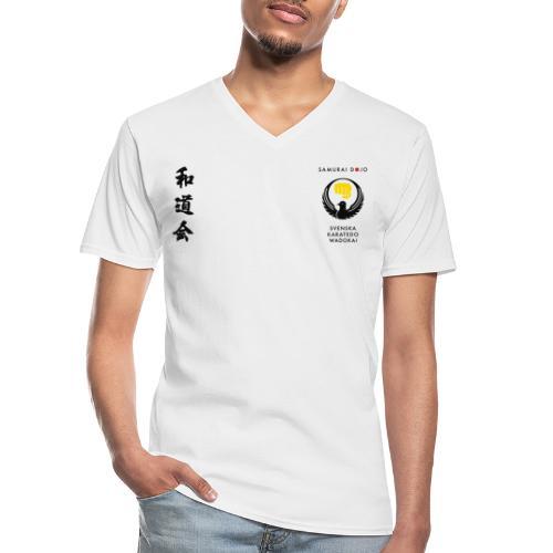 KKSD 3sides white - Klassisk T-shirt med V-ringning herr
