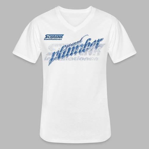 PROUD Plumber PRO / 3fach Druck - Klassisches Männer-T-Shirt mit V-Ausschnitt