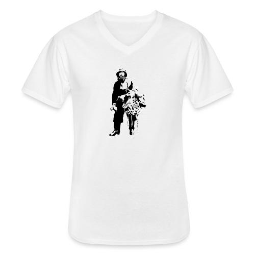 feskarn - Klassisk T-skjorte med V-hals for menn