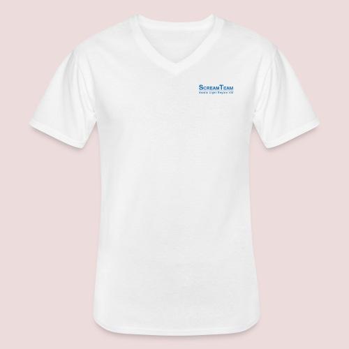 ScreamTeam Region 32 - Klassisk T-shirt med V-ringning herr