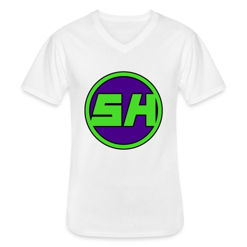 SkyHyperion Classic Colours - White - Men's V-Neck T-Shirt