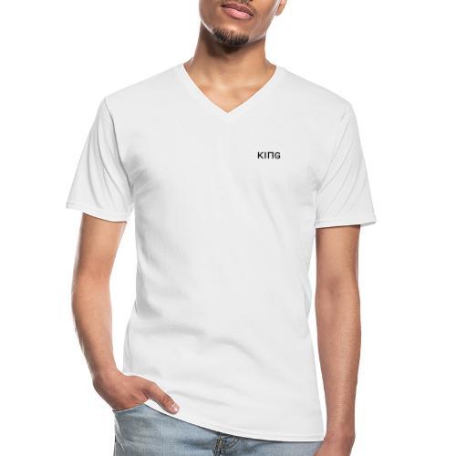 KING KAYA T - Shirt Black Chess - Klassisches Männer-T-Shirt mit V-Ausschnitt