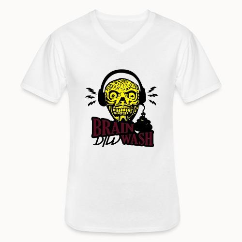 dirty brain - Klassisches Männer-T-Shirt mit V-Ausschnitt