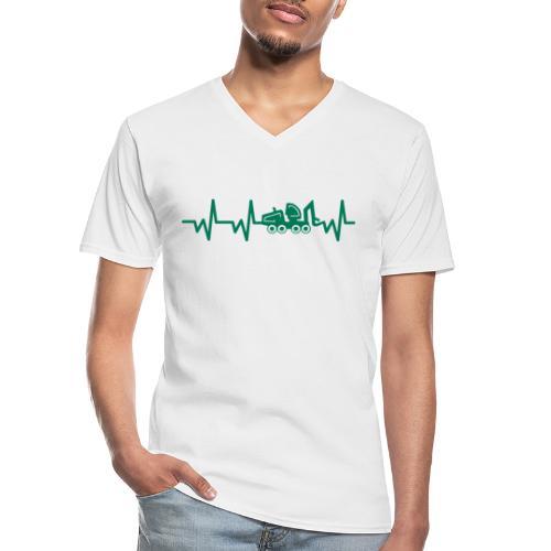 Forst | Herzschlag - Klassisches Männer-T-Shirt mit V-Ausschnitt