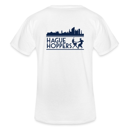 Hague Hoppers logo blue - Klassiek mannen T-shirt met V-hals