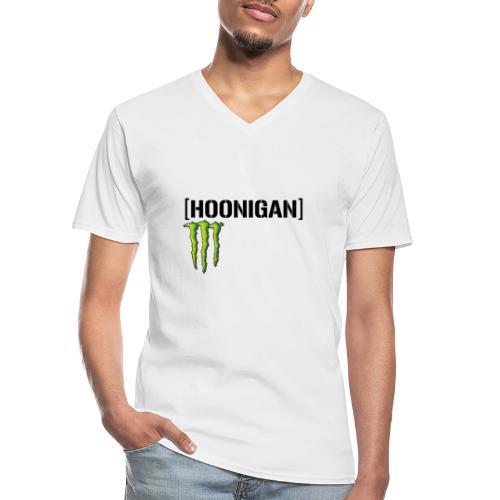 monster energy hoonigan - Klassisk T-shirt med V-ringning herr