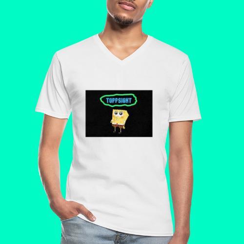Topsight - Klassisk T-shirt med V-ringning herr
