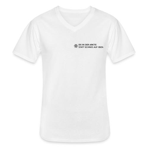Eis in der Arktis statt Schnee auf Ibiza - Klassisches Männer-T-Shirt mit V-Ausschnitt