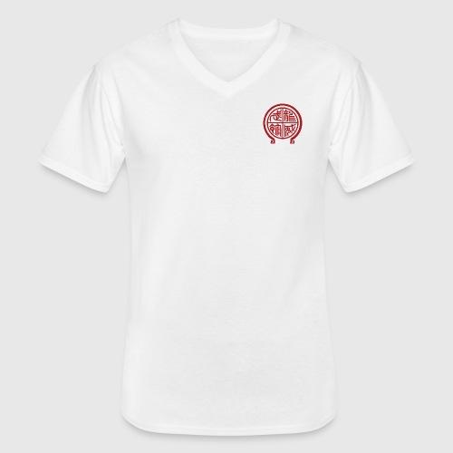 Taijitu T-shirt - Klassisches Männer-T-Shirt mit V-Ausschnitt