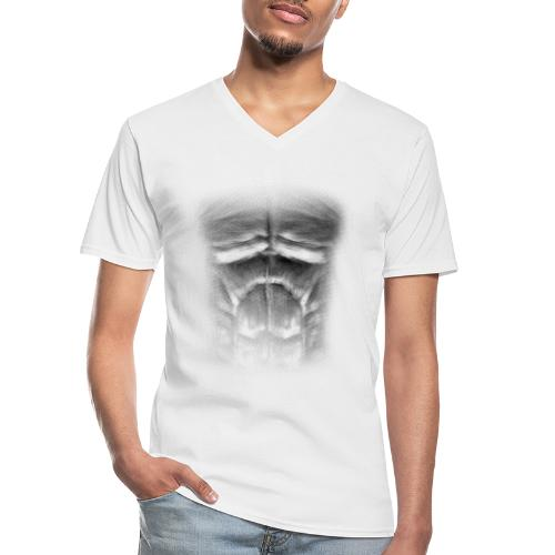 echt muskeln dark - Klassisches Männer-T-Shirt mit V-Ausschnitt