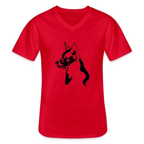 australiankelpie - Klassinen miesten t-paita v-pääntiellä
