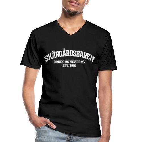 SB drinking academy White - Klassinen miesten t-paita v-pääntiellä
