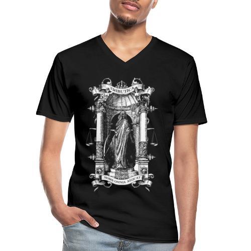 Mors Omnia Aequat BY TRIBUTICA® - Klassisches Männer-T-Shirt mit V-Ausschnitt