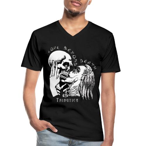Love Black - Klassisches Männer-T-Shirt mit V-Ausschnitt