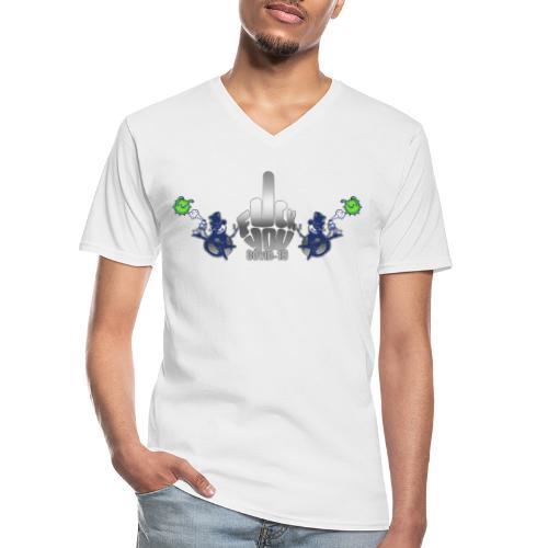 F&%k you Corona - Klassisches Männer-T-Shirt mit V-Ausschnitt