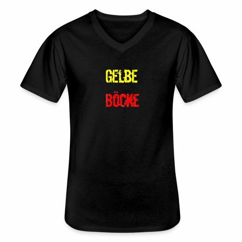 Gelbe Boecke - Klassisches Männer-T-Shirt mit V-Ausschnitt