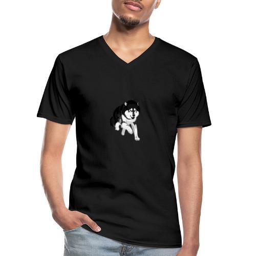 NolleDK - Klassisk herre T-shirt med V-udskæring