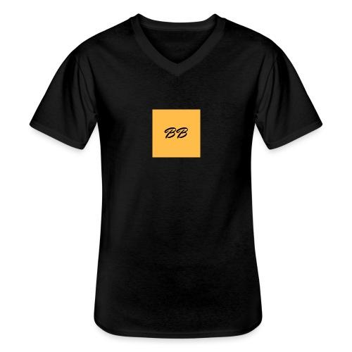 Logo - Klassisk herre T-shirt med V-udskæring