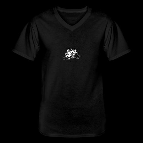 SamShaky - Klassinen miesten t-paita v-pääntiellä