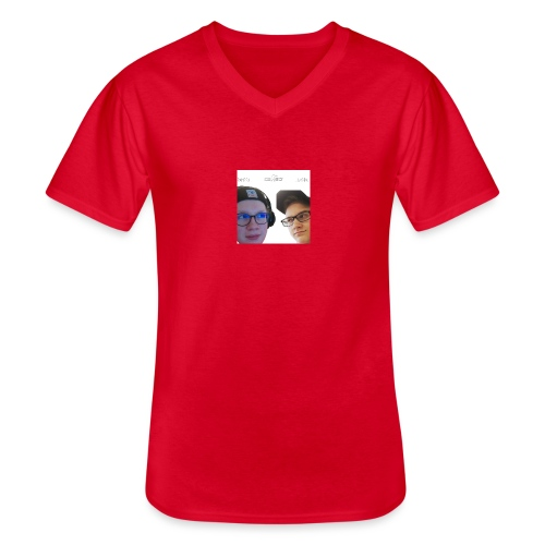 Ramppa & Jamppa - Klassinen miesten t-paita v-pääntiellä