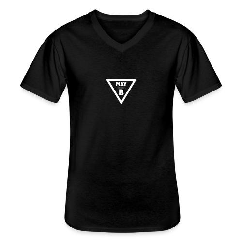 May-B Hipster Traingle - Men's V-Neck T-Shirt