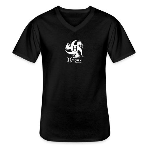 Hydra DESIGN - logo white - Maglietta da uomo classica con scollo a V
