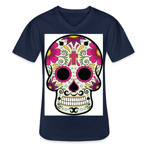 tête messico - T-shirt classique col V Homme