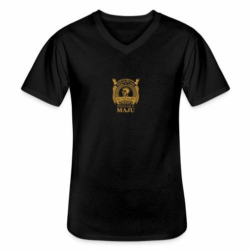 1 ur editor 1 - Klasyczna koszulka męska z dekoltem w serek