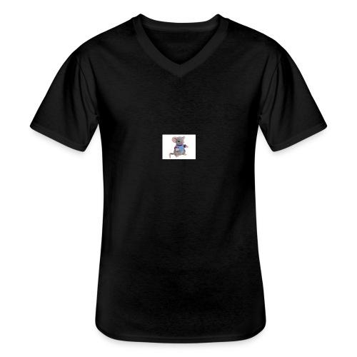 rotte - Klassisk herre T-shirt med V-udskæring