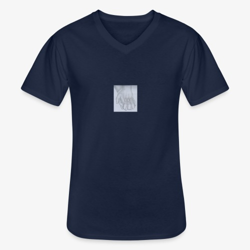 main dans la main - T-shirt classique col V Homme