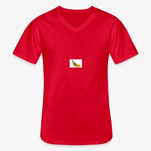 Bananana splidt - Klassisk herre T-shirt med V-udskæring