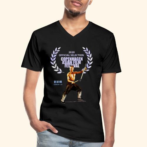 CAFF - Official Item - Shaolin Warrior 2 - Klassiek mannen T-shirt met V-hals