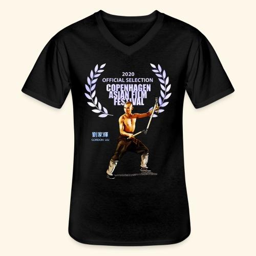 CAFF - Official Item - Shaolin Warrior 2 - Klassisk herre T-shirt med V-udskæring